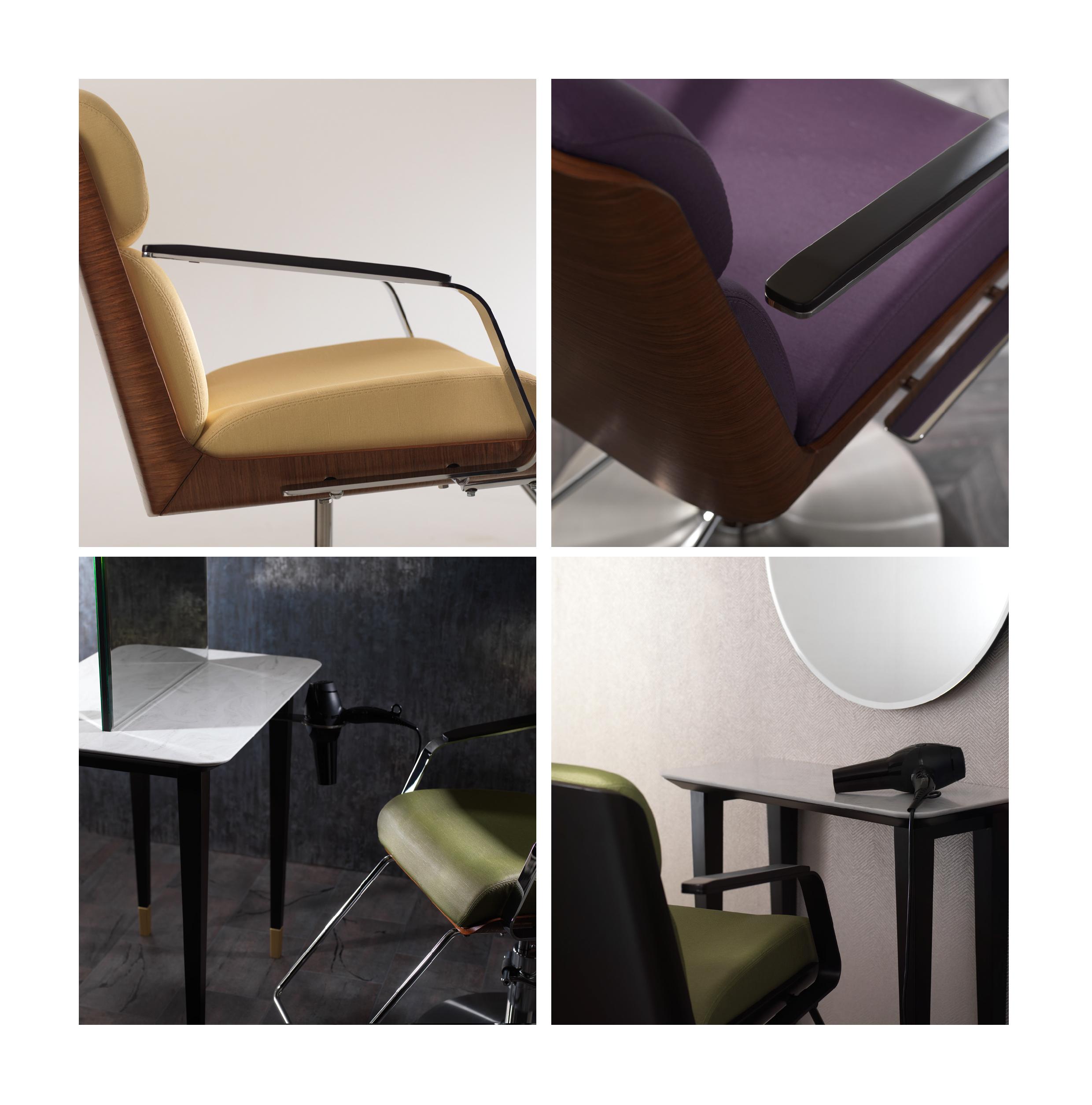 klassische und moderne Stühle
